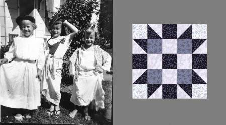 "Nothin' like having sisters! This quilt block is called ""Sister's Choice""."