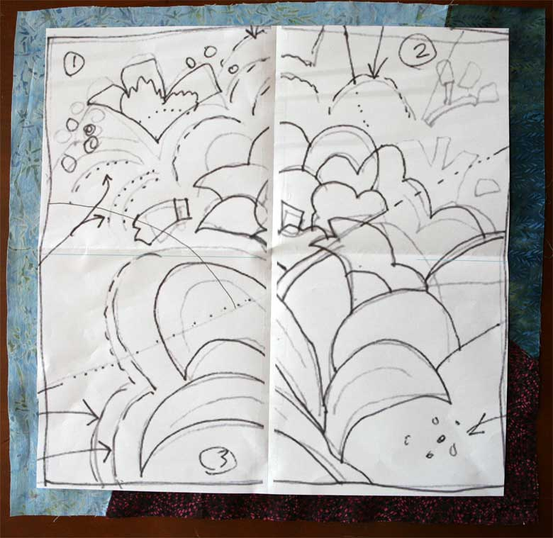 Line Drawing Of Quilt : The making of an art quilt hue bliss color notes