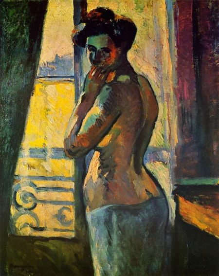 Woman at the Window, Henri Manguin, 1904, oil on canvas, 24 x 19 3/4""