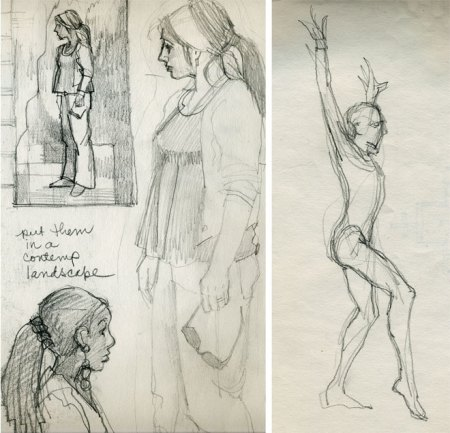 figures from sketchbook, karen gilis taylor