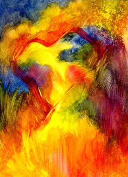 Hearts Afield, watercolor on gessoed paper, KGTaylor