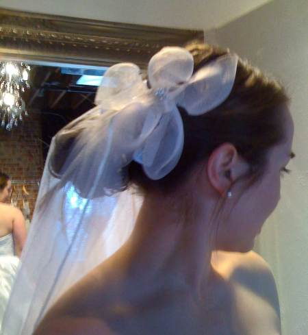 Anne's hairpiece trying on