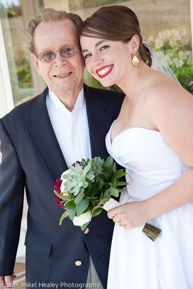 Dad Bob Gillis Sr. and Annie on her wedding day