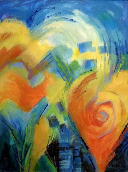 """Joy"", acrylic, Karen Gillis Taylor, sold"