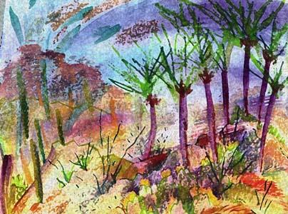 Arizona, mixed media, Karen Gillis Taylor