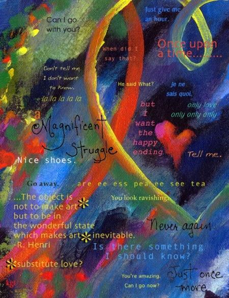 Katie's Loovre, Acrylic, Karen Gillis Taylor