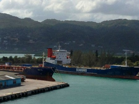 Montego Bay on arriving in Jamaica aboard ship, January 2013
