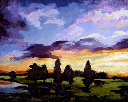 Dawn at the Pond, Karen Gillis Taylor, oil