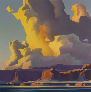 Ed Mell, Towering Clouds, Lake Powell, Lithograph, Medicine Man Gallery, Santa Fe, NM