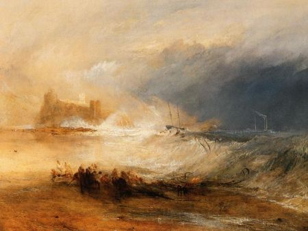 """Wreckers, Coast of Northumberland,"" oil on canvas, by the English artist J. M. W. Turner. Courtesy of the Yale Center for British Art.Date, circa 1834"