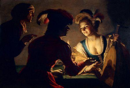 The Matchmaker by Gerard van Honthorst, 1625, oil, Utrecht Museum