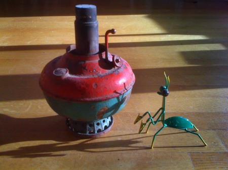 Oil Lamp with Mantis, KGT