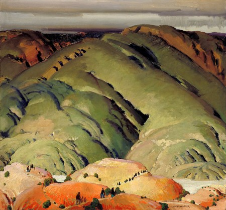 Victor HIggins, Mountain Forms #2, ca. 1925-1927 - oil on canvas (Smithsonian)