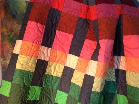Sunset quilt detail, KG Taylor