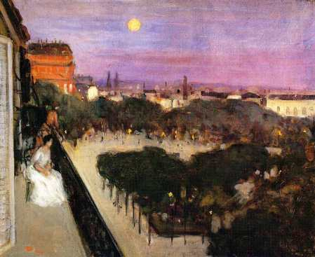The Balcony Frederick C. Frieseke (1904) Private collection Painting - oil on canvas