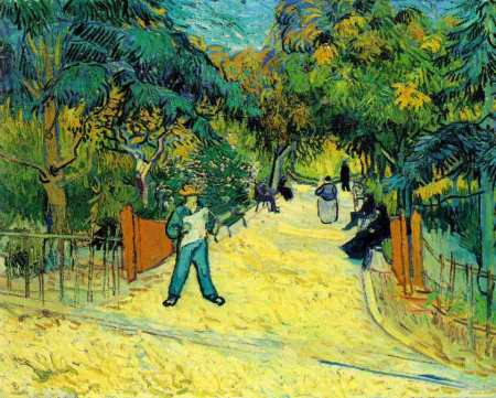 Entrance to the Public Gardens in Arles, 1888, oil, Vincent Van Gogh