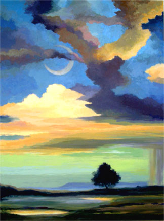 """Tranquility"", Karen Gillis Taylor, oil"