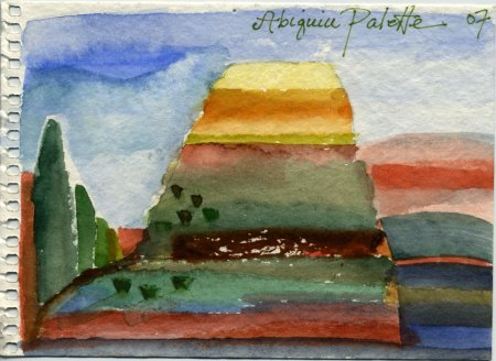 Abiquiu, watercolor from my sketchbook, KGT