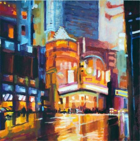 "New York City, acrylic, 16 x 20"", Karen Gills Taylor"