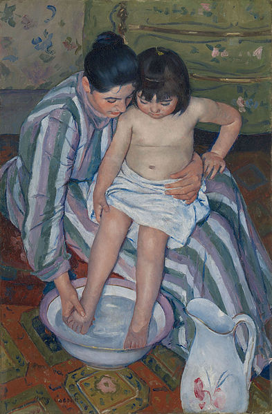 """The Child's Bath"", by Mary Cassatt"