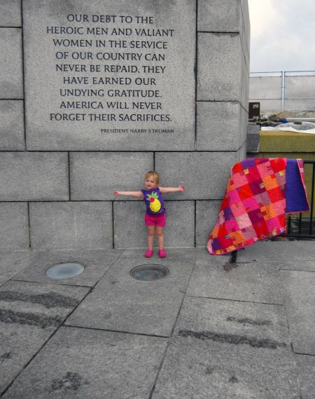 Tracee Doran's gift quilt made its way to D.C.