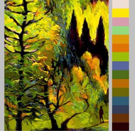 """Aspen Trees, Vertical Sketch"", Karen Gillis Taylor"