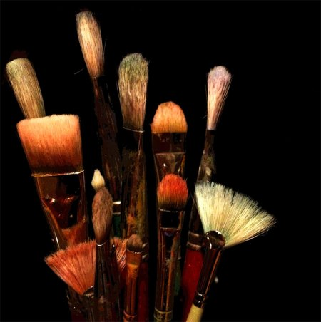 Brushes ready to begin again