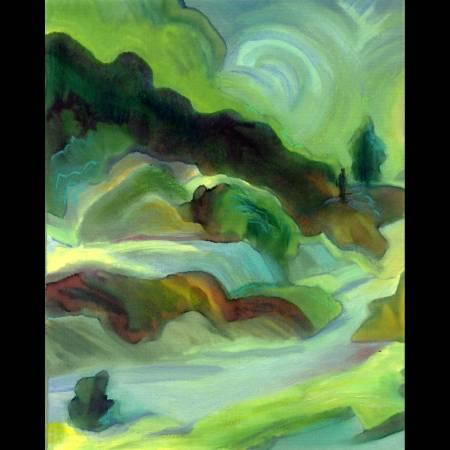 """""""Canyon"""", digital and mixed media, Karen Gillis Taylor"""