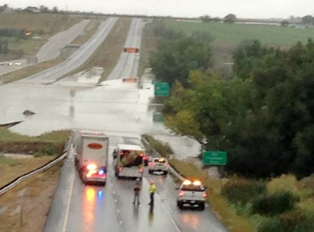 Flooding on the plains highways