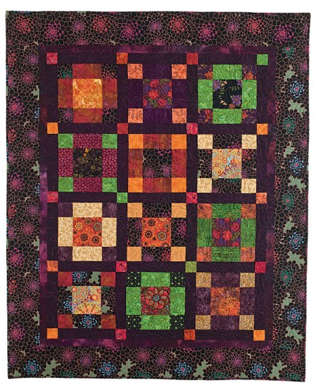 Plum Spicy Quilt by Karen Gillis Taylor for McCall's Quilting magazines, 2013
