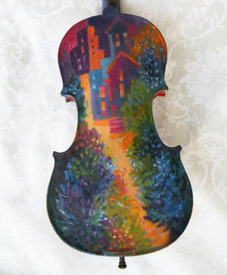 Painted Violin back side, KGT