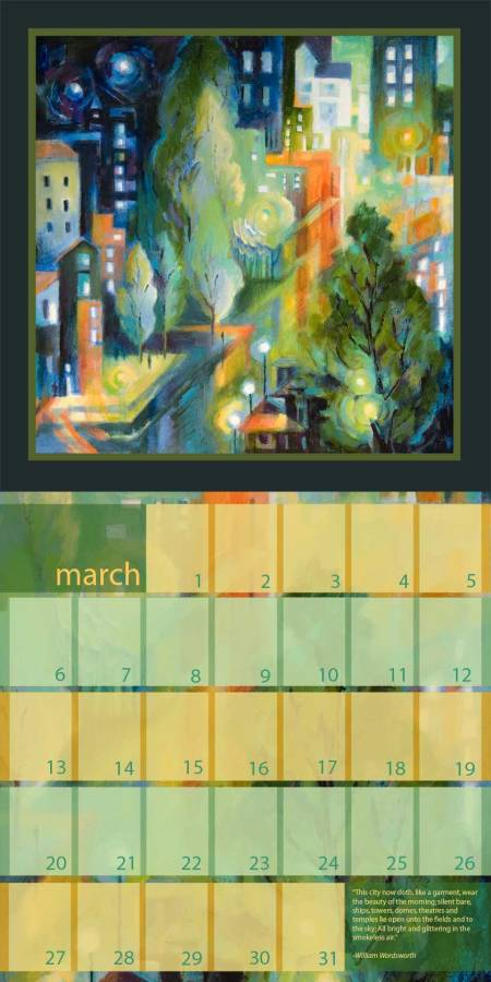 Calendar layout proposal to my publisher, TFC, for City Dreams 2011 calendar