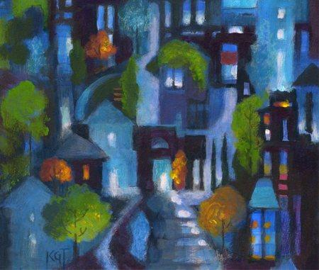 October Night City horizontal idea, KGTaylor