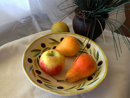 Pears and apple still life photo, KGT, 2013