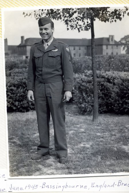Willis Bruce Gillis II, my uncle, 1945, Bassingbourne England, WW2