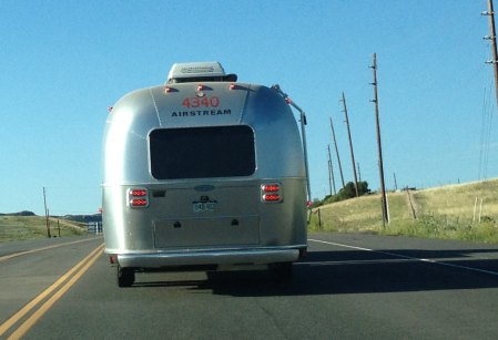 Chasing an Airstream trailer on a road trip too long ago