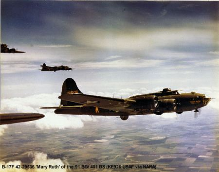 B-17 Plane, Bassingborne, England, WW2
