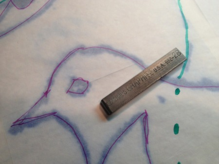 Graphite stick for transferring drawings via tracing paper