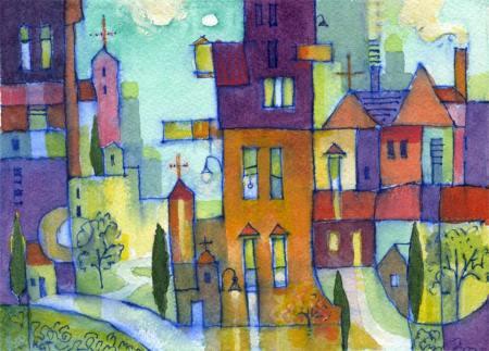 "November Mansions, 5 x 7"", Karen Gillis Taylor, 2013"
