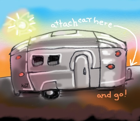 """My Airstream"", digital art, Karen Gillis Taylor, 2013"