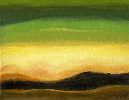 """Pheasant Hunt Day"", oil on canvas, 9 x 12"", Karen Gillis Taylor"