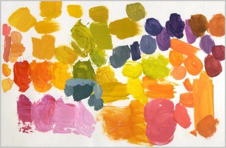 Paint color palette for Orange Reverie