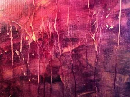Base painting drip technique
