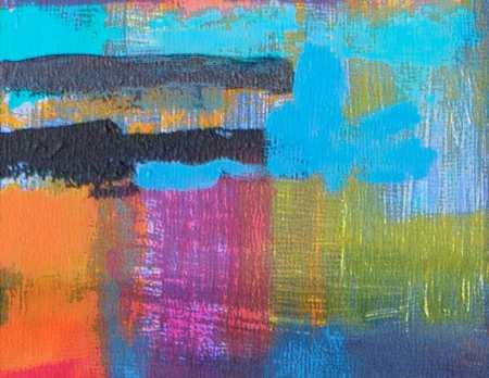Abstract Landscape Idea, Karen Gillis Taylor, acrylic detail