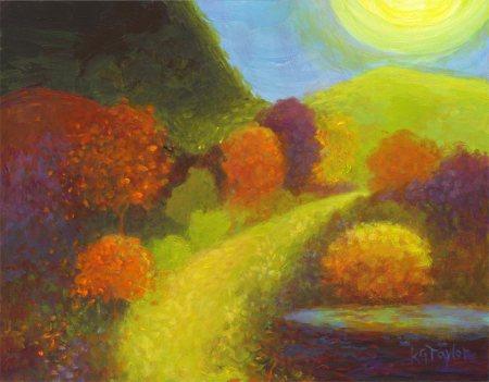 """February Landscape"", working title, 11"" x 14"", acrylic, Karen Gillis Taylor, 2014"