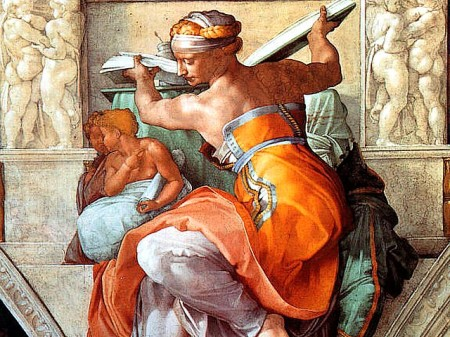 The Libyan Sibyl, Sistine Chapel, Vatican, by Michelanglo Buonarroti, 1508-12