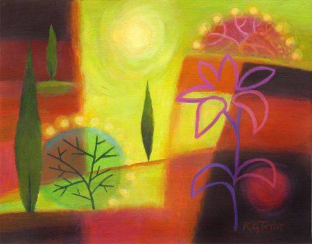 """Summer Fever"", 11 x 14"", acrylic, Karen Gillis Taylor, 2014"