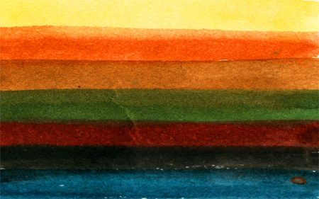 Abiquiu palette, watercolor, KGT