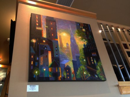 """""""Art Deco Dawn"""" carries over as the one piece from previous showing"""