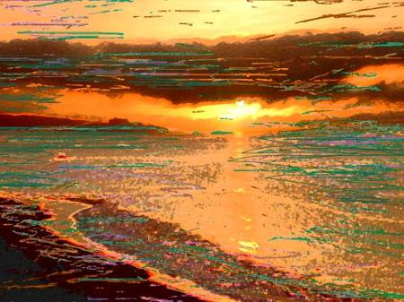 """Cabo Sunrise"", digital photography and colors added, KGT"